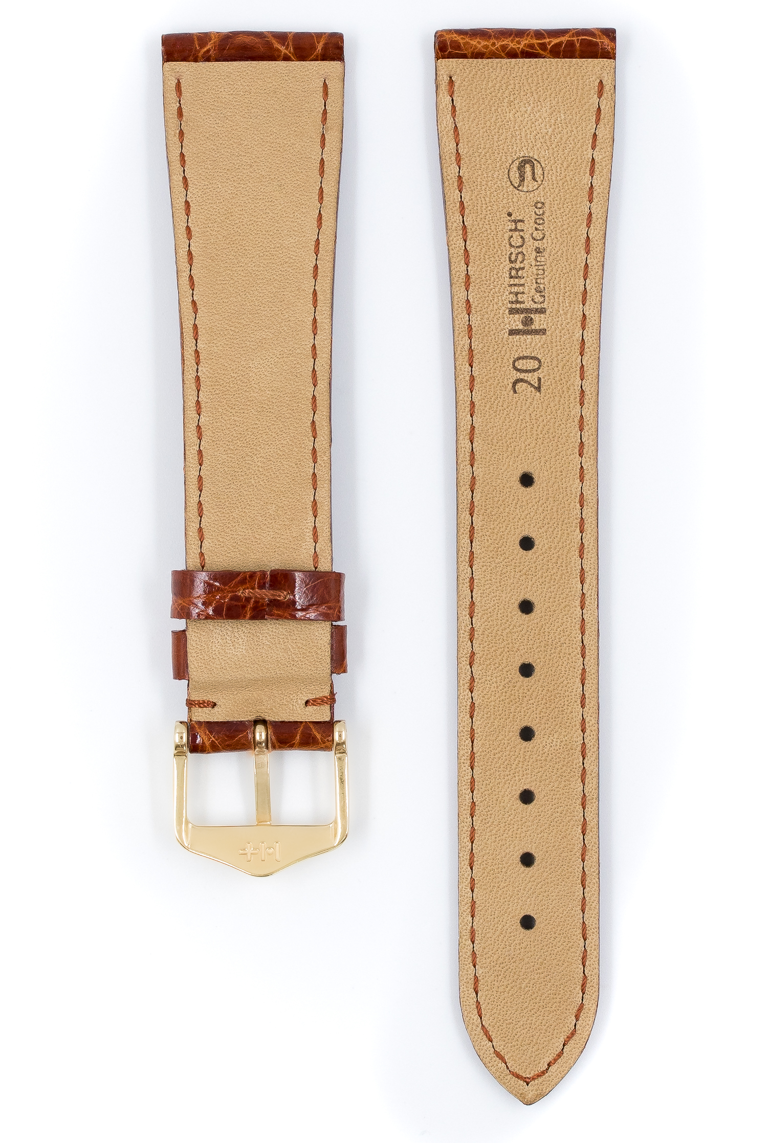 Uhrenarmband Echt Leder Edelstahl Dornschließe 20mm Neu Nr.071