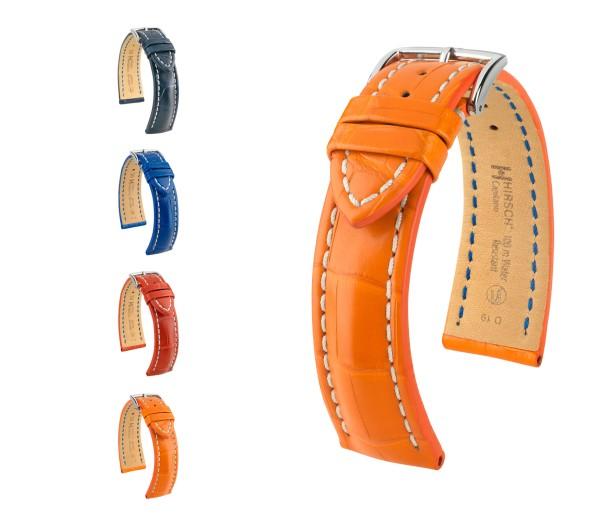 "HIRSCH Selection Uhrenarmband Louisiana Alligator ""Capitano"", 18-24 mm, 4 Farben, neu!"