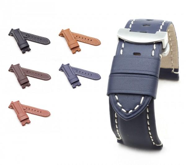 BOB Faltschließband Kalbsleder kompatibel Panerai, 24/22 mm, 5 Farben, neu!