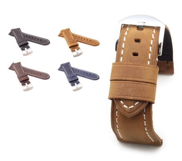 """BOB Genuine Suede Watch Band, Model """"Firenze"""", 26/22 mm, 4 colors, new!"""