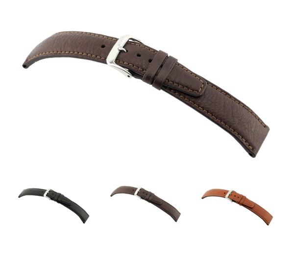 "RIOS1931 Organic Leather Watch Band ""Füssen"", 18-20 mm, 3 colors, new!"