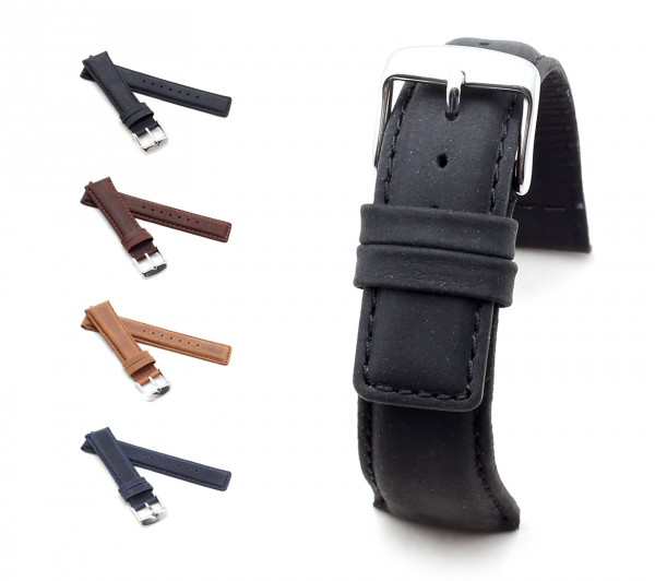 "BOB Genuine Suede Watch Band, Model ""Classic"", 20-22 mm, 4 colors, new!"