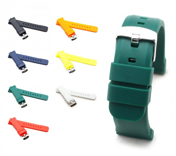 """BOB Genuine Silicone Watch Band, Model """"Sport"""", 18-24 mm, 7 colors, new!"""