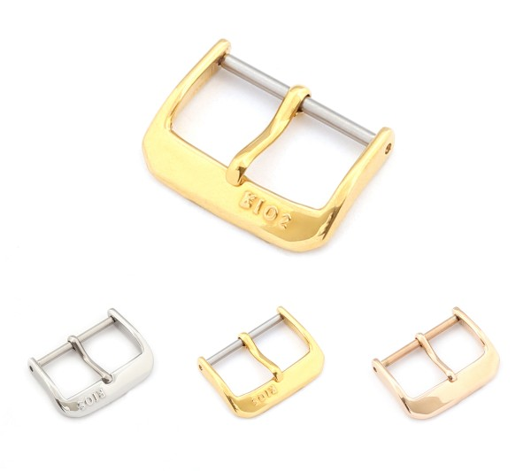 "RIOS1931 Spring-Bar Tang Buckle, Model ""Classic"" 6-28 mm, 3 colors, new!"