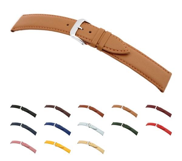 "RIOS1931 Calfskin Watch Band ""Toscana"", 16-24 mm, 6 colors, new!"