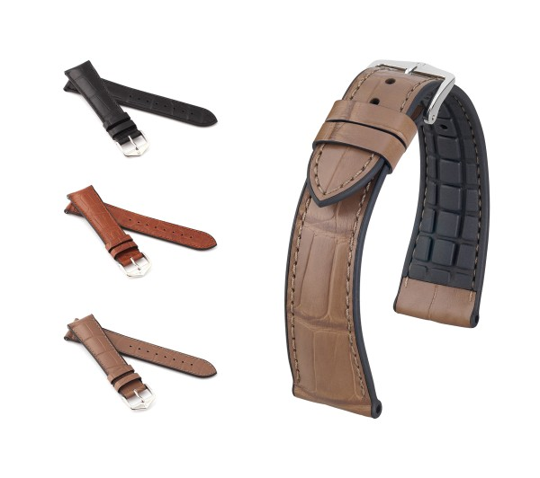 "HIRSCH Performance Watch Band ""Ian"", 20-22 mm, 3 colors, new!"
