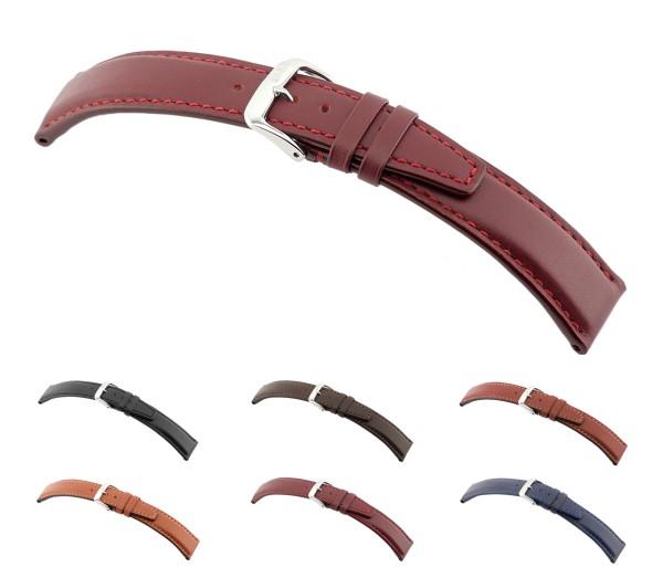 "RIOS1931 Calfskin Watch Band ""Capri"", 18-22 mm, 6 colors, new!"