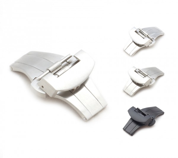 Deployment Clasp compatible with Panerai Watch Bands, 20-22 mm, 2 colors, new!