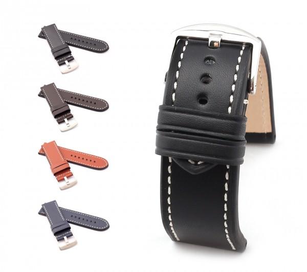 "BOB Marino Calf Watch Band, Model ""Firenze"", 26/26 mm, 4 color, new!"