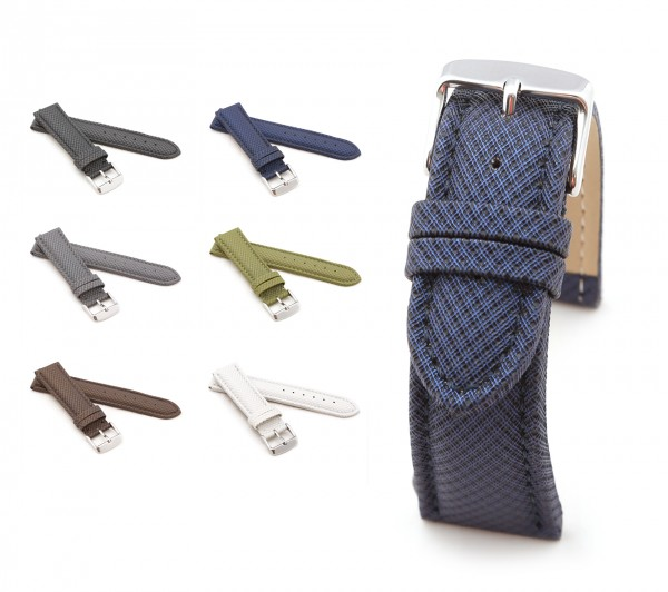 """BOB Synthetic Watch Band, Model """"Dynamic"""", 18-24 mm, 6 colors, new!"""