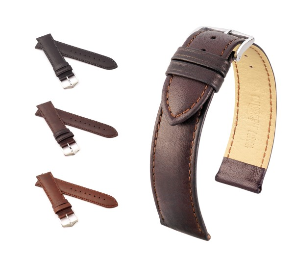 "HIRSCH French Sheepskin Watch Band ""Merino"", 18-22 mm, 3 colors, new!"