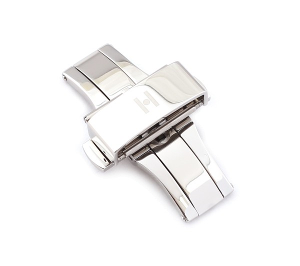 H-Pusher Deployment Clasp, silver polished