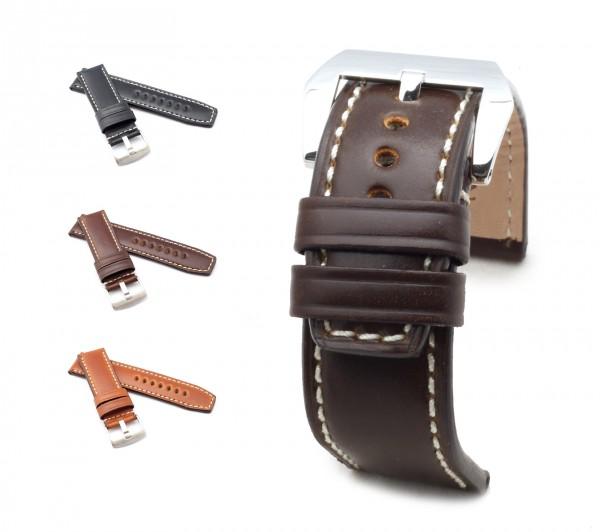 "BOB Marino Cordovan Watch Band, Model ""Firenze"", 24/24 mm, 3 colors, new!"