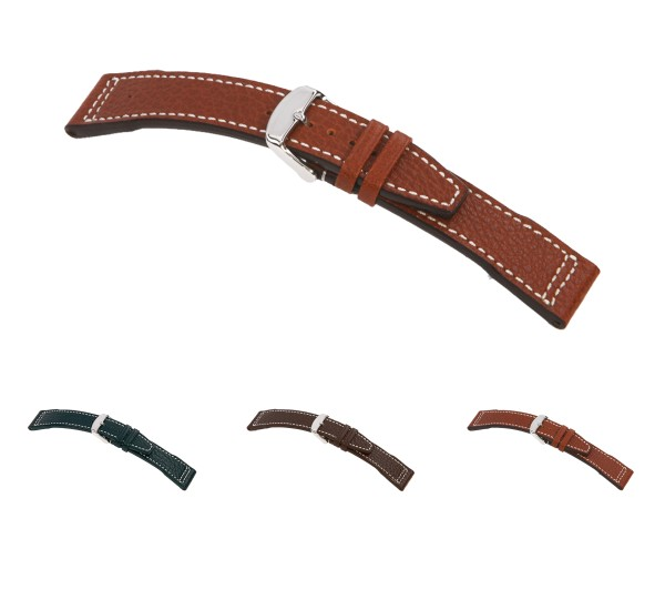 "RIOS1931 Buffalo Leather Watch Band ""Typhoon"", 20-22 mm, 3 colors, new!"
