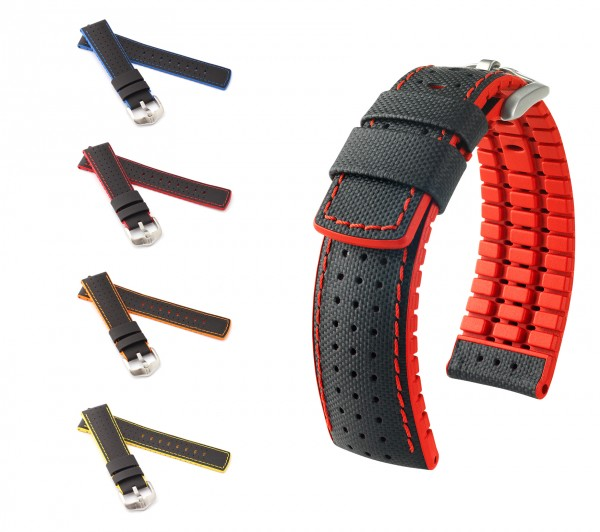 "HIRSCH Performance Watch Band ""Robby"", 20-24 mm, black, new!"