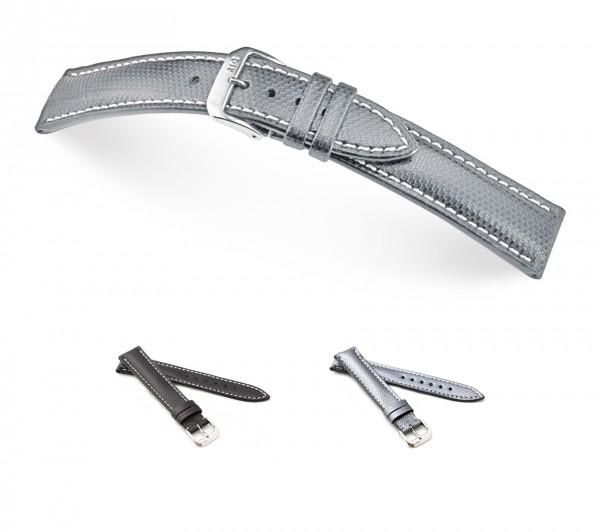 """RIOS1931 Uhrenarmband Echt Ballistic, Modell """"Next"""", 18-22 mm, 2 Farben, neu!"""