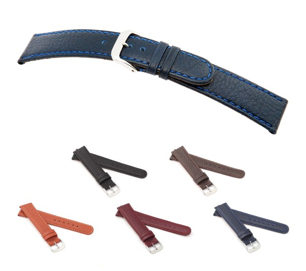 "RIOS1931 Buffalo Leather Watch Band ""Texas"", 16-20 mm, 5 colors, new!"