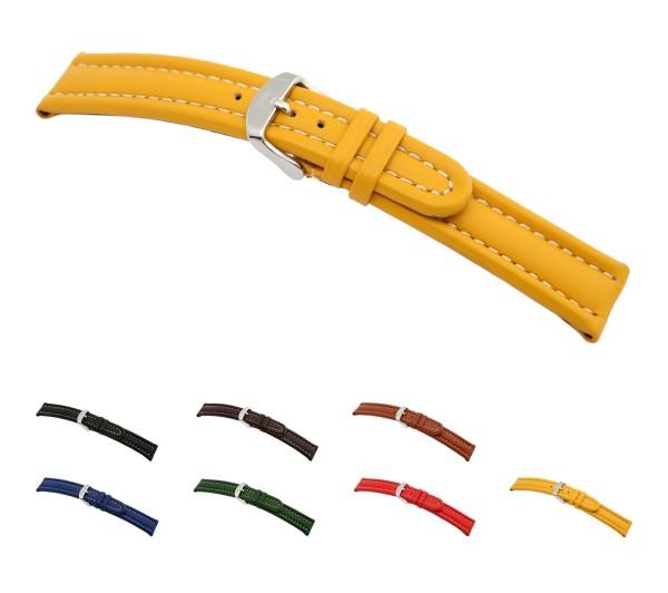 "RIOS1931 Calfskin Watch Band ""Maranello"", 18-22 mm, 7 colors, new!"