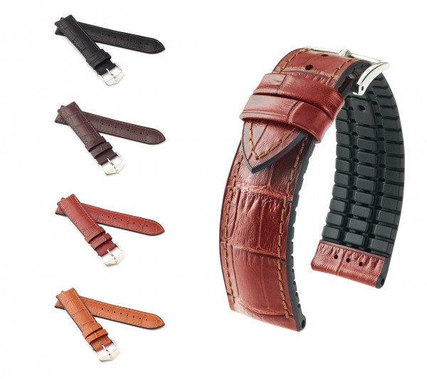 "HIRSCH Performance Watch Band ""Paul"", 18-24 mm, 4 colors, new!"