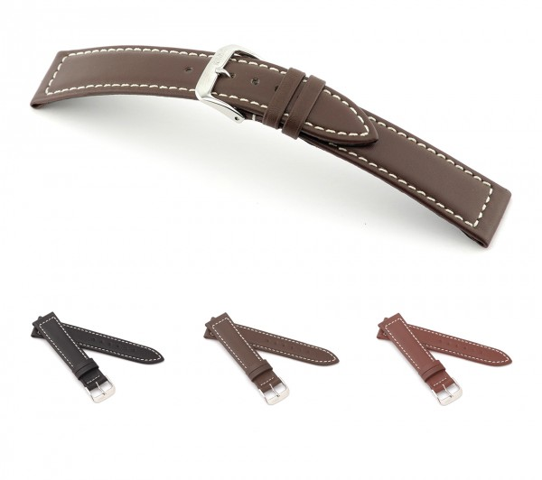 "RIOS1931 Hydrophobic Leather Watch Band ""Dive"", 18-22 mm, 3 colors, new!"