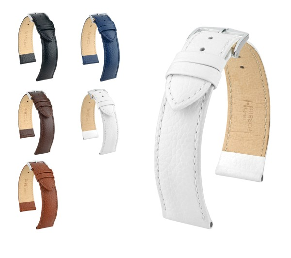 "HIRSCH XS Buffalo Style Watch Band ""Kansas"", 12-22 mm, 5 colors, new!"