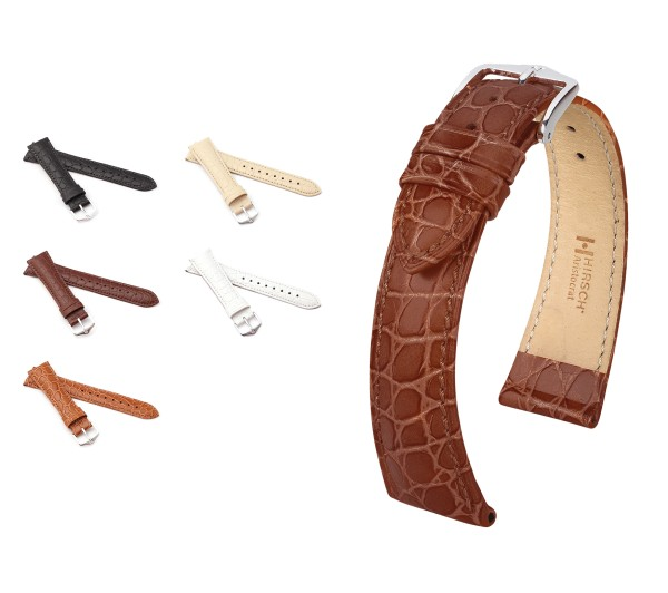 "HIRSCH XS Crocodile Style Watch Band ""Aristocrat"", 12-16 mm, 5 colors, new!"