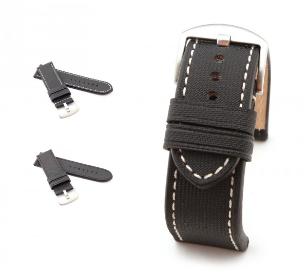 """BOB Marino Nytech Watch Band, Model """"Firenze"""", 26/26 mm, black, new!"""