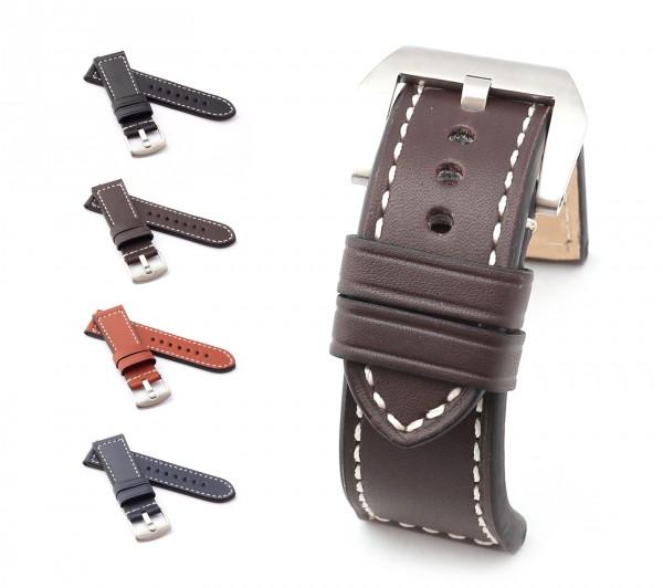 "BOB Marino Calf Watch Band, Model ""Firenze"", 24/22 mm, 4 color, new!"