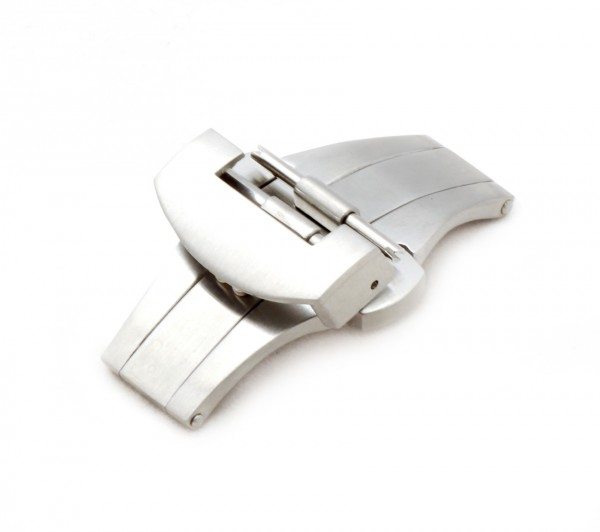 Deployment Clasp compatible with Panerai Watch Bands, 22 mm, silver-colored, new!