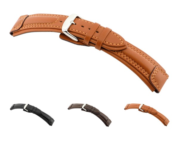 "RIOS1931 Calfskin Watch Band ""Apulia"", 20-24 mm, 3 colors, new!"