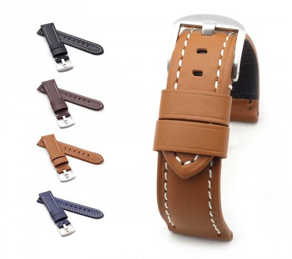 """BOB Calfskin Watch Band, Model """"Firenze"""", 22/20 mm, 4 colors, new!"""