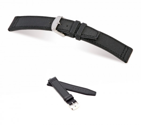 "RIOS1931 Genuine Nytech Watch Band ""Albatros"", 18-22 mm, black, new!"
