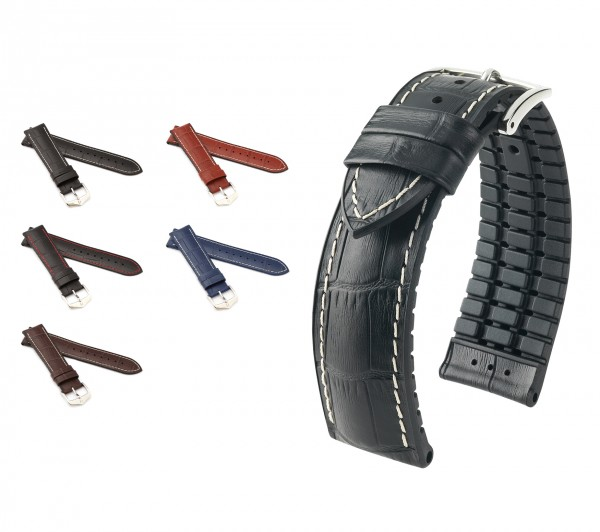 "HIRSCH Performance Watch Band ""George"", 20-24 mm, 4 colors, new!"