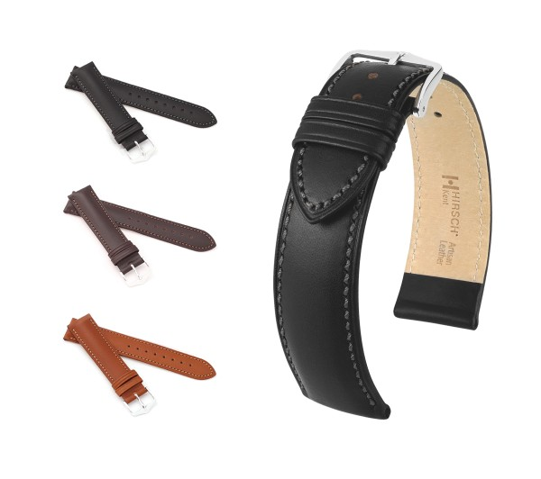 "HIRSCH XS Italian Calfskin Watch Band ""Kent"", 12-18 mm, 5 colors, new!"