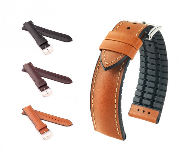 "HIRSCH Performance Watch Band ""James"", 18-22 mm, 3 colors, new!"