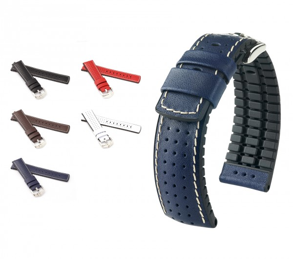 "HIRSCH Performance Watch Band ""Tiger"", 18-24 mm, 5 colors, new!"