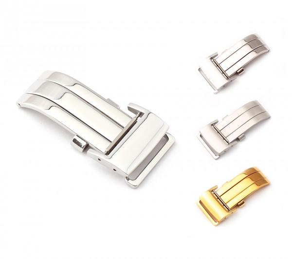 Faltschließe kompatibel Breitling Style Uhrenarmbänder, 18-20 mm, 2 Farben, neu!