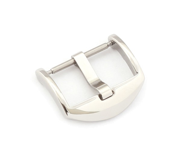 R-Tang Buckle Italy, silver polished