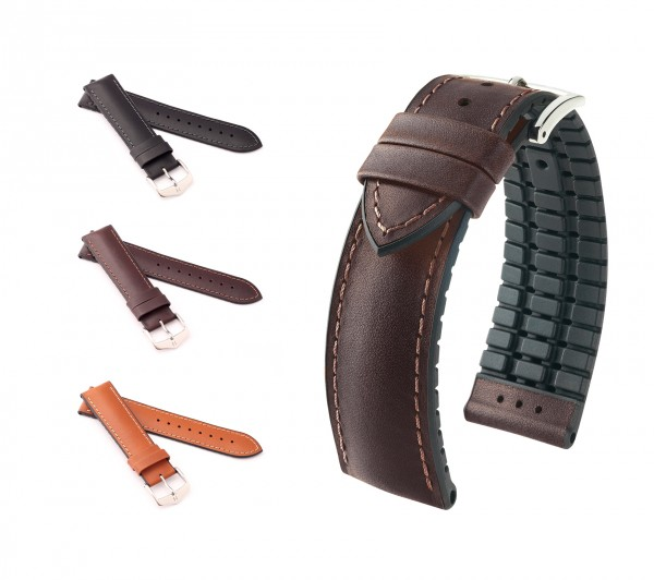 "HIRSCH XS Performance Uhrenarmband ""James"", 18-20 mm, 3 Farben, neu!"