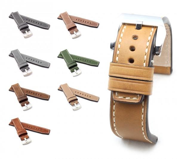 "BOB Marino Vintage Watch Band, Model ""Firenze"", 22/22 mm, 7 colors, new!"