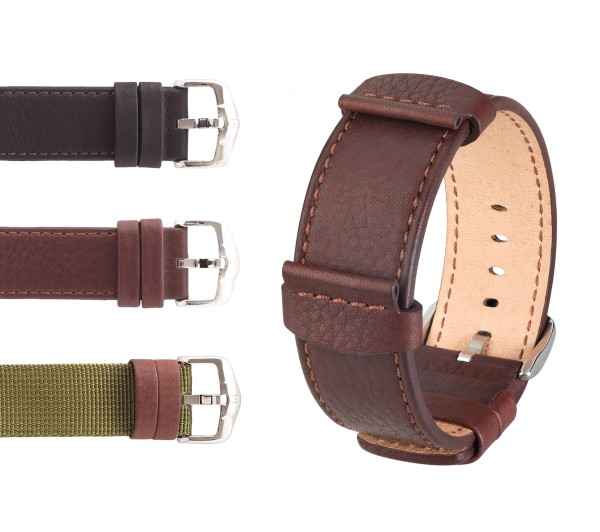"""HIRSCH Nato Style Watch Band """"Rebel"""", 22-24 mm, 2 colors, new!"""