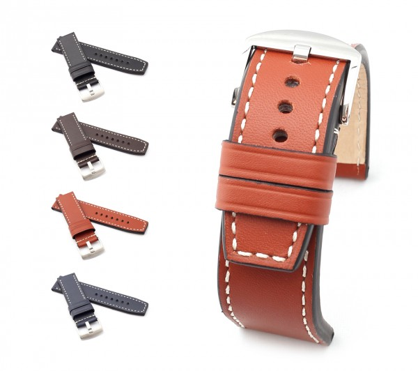 "BOB Marino Calf Watch Band, Model ""Firenze"", 24/24 mm, 4 color, new!"