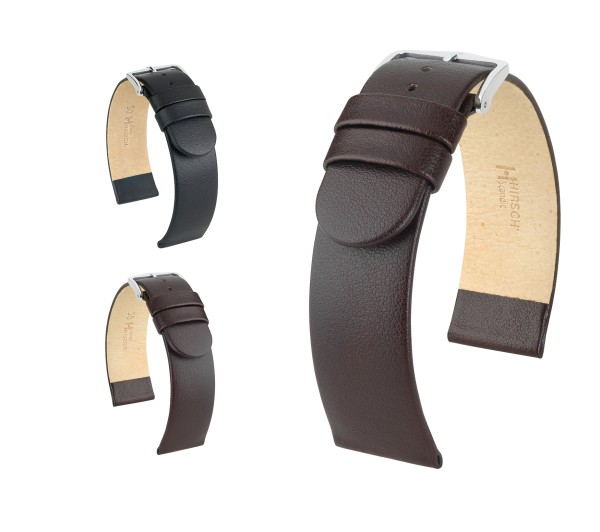 "HIRSCH Italian Calfskin Watch Band ""Scandic"", 18-30 mm, 2 colors, new!"