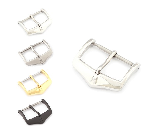 "HIRSCH Spring-Bar Tang Buckle, Model ""Classic"" 16-24 mm, 3 colors, new!"