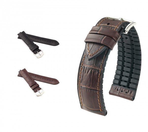 "HIRSCH XL Performance Watch Band ""Paul"", 20-22 mm, 2 colors, new!"
