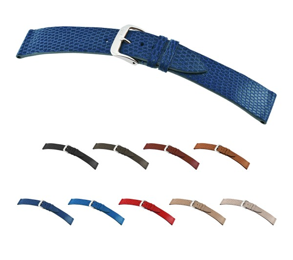 """RIOS1931 XS Genuine Lizard Watch Band """"Charme"""", 12-15 mm, 9 colors, new!"""