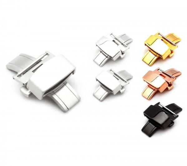 Faltschließe für Uhrenarmbänder, L316 Edelstahl, 16-22 mm, neu!