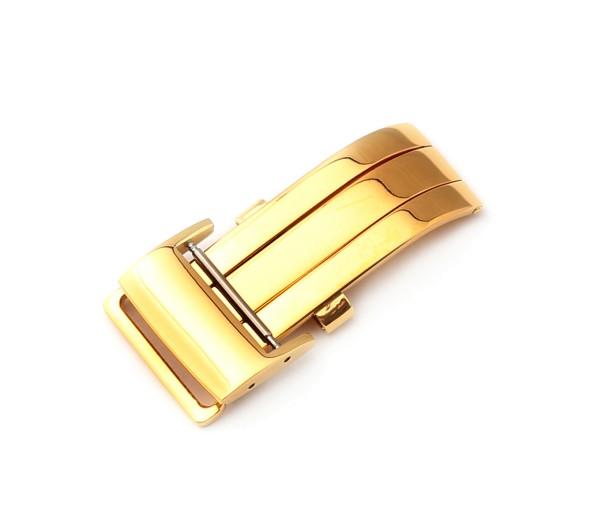 Faltschließe Chrono, gold poliert