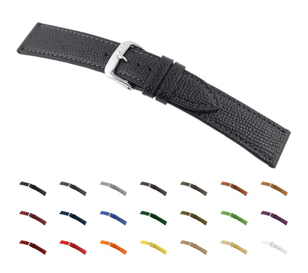 """RIOS1931 Cowhide Watch Band """"French"""", 16-22 mm, 12 colors, new!"""