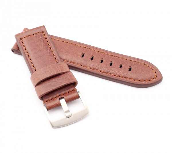 "BOB Vintage Calfskin Watch Band, Model ""Firenze"", 26/26 mm, dark brown, new!"